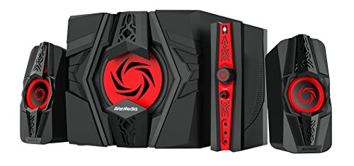 Cheapest Prices! AVerMedia Ballista Unity Gaming Speakers, 2.1 Audio Sound System Speakers, 40 Watts...