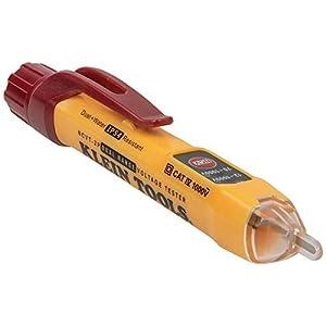 Klein Tools NCVT2P NCVT2P Dual Range Non Contact Voltage Tester, 12-1000V AC Pen, Flashing LED and Audible Warning Alarms, Pocket Clip