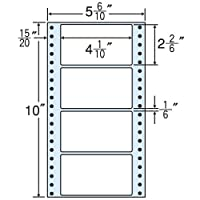 東洋印刷 タックフォームラベル 5 6/10インチ ×10インチ 4面付(1ケース1000折) MT5F