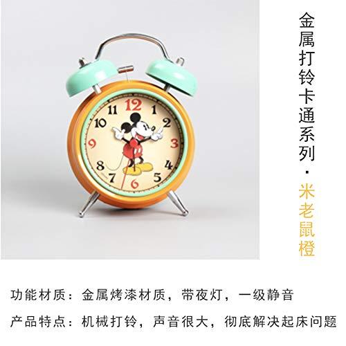 Luxuryclock Kreative Einfachheit des Mechanischen Super Lauten Niedlichen Kleinen Weckers, Mickey Mouse A