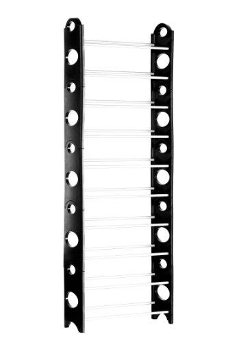 Premier Housewares - Zapatero con 10 estantes (157 x 65 x 20 cm), Color Negro y Gris