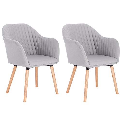 WOLTU Esszimmerstühle BH123hgr-2 2er Set Küchenstuhl Wohnzimmerstuhl Polsterstuhl Design Stuhl mit...