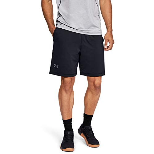 Under Armour Men's Raid 8-inch Shorts, Black/Graphite, SM
