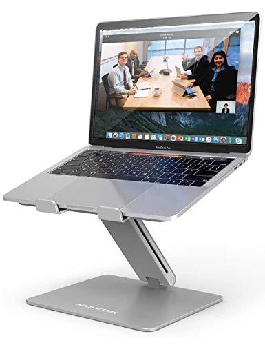 AboveTEK Laptop Ständer, Notebook Ständer mit Verstellbar Multi-Winkel, Laptopständer für MacBook Pro/Air, Computer, Samsung, Surface Laptop (10-17 Zoll) - Silber