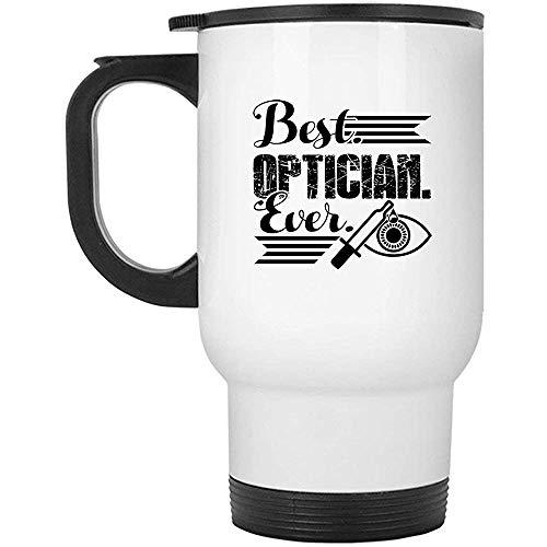 Little Yi Bester Optiker Aller Zeiten Großer Reisebecher, Stahlbecher (weißer Becher)