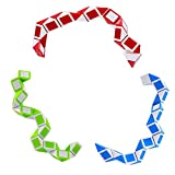 YJF Juego de 3 Juguetes Snake Speed Cube Puzzle 48 Piezas Twist Magic Ruler Cube Pack Hand Fidget Toy Games Set para niños Niños Adultos