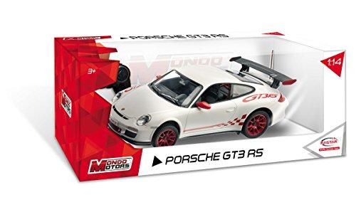 Mondo Motors - 63128 - Véhicule Miniature radio commande - Porsche 611 GT3 RS R / C - Echelle 1:14 - Noir/Rouge
