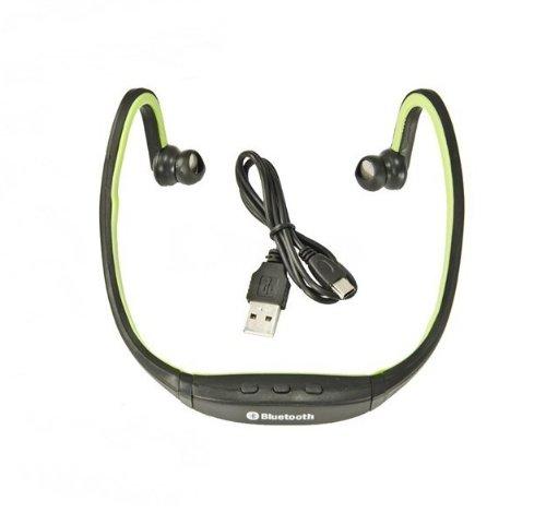 Música Deportes Wireless Stereo Bluetooth Headset auriculares para el iPhone de Apple, iPad, Blackberry, HTC, Samsung, Samsung S3, S2 Samsung, Nokia, Motorola, LG, Sony Ericson, PDA, Tablet PC, PC, ordenador portátil y cualquier dispositivo compatible con Bluetooth-Green