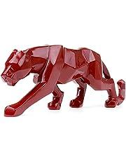 Yusea Modern Art Geometrische Panther Beeldje Hars Luipaard Sculptures voor Boekenkast Showcase Shop Home Office Desk Decoratie