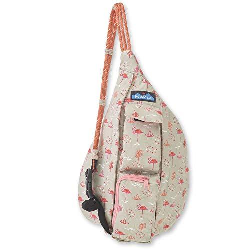KAVU Mini Rope Bag Cotton Crossbody Sling  - Chillin Flamingo