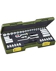 """Proxxon zestaw kluczy nasadowych, kompaktowy zestaw z grzechotką 3/8"""", 47-częściowy zestaw narzędzi w walizce z tworzywa sztucznego, 23282"""
