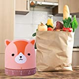 Kitchen Timer Cat&Fox&Pig Time Timer Manual Craft Mechanical Wind UpCooking Timer for Cooking,Study,Entertainment,Kids Classrooms, Meetings (FOX)