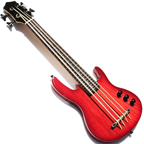 MiNi 4 cuerdas ukelele bajo eléctrico con color rojo