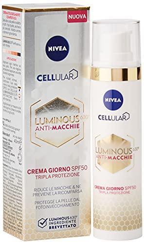 Nivea Cellular Luminous 630 Anti Macchie, Crema Giorno Spf 50 Tripla Protezione