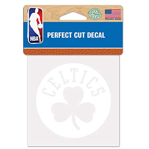 WinCraft NBA Boston Celtics 4x4 Perfect Cut White Decal, One Size, Team Color