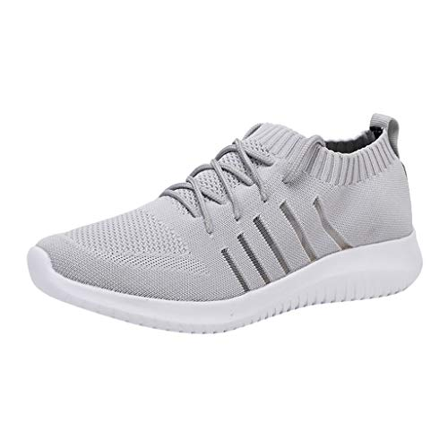 Walking Shoes for Men-RQWEIN Mens Running Shoes Slip On Blade Mesh Fashion Sneakers Athletic Tennis Sports Cross Training(Gray,11