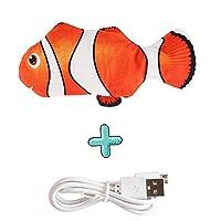 HthlyP 電子フロッピー魚ペットの猫のおもちゃシミュレーションが噛み用品USB充電を遊ぶ魚の猫のおもちゃのために猫チューインガムを移動します 犬おもちゃ (Color : Green)