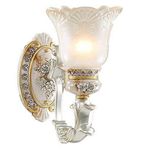 YLSMN Europäische wandleuchte nachttischlampe schlafzimmer gang wohnzimmer beleuchtung kreative wandleuchte treppenlicht einfache europäische harz wandleuchte heizstrahler
