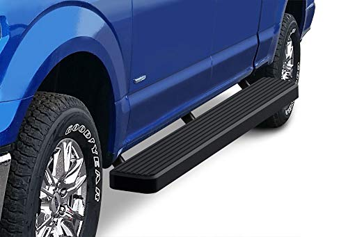 APS iBoard Running Boards 6in Black Compatible with Ford F150 2015-2020 SuperCrew Cab & F-250 F-350 Super Duty 2017-2020 Crew Cab (Nerf Bars Side Steps Side Bars)