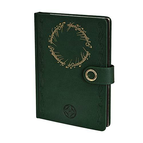 Elbenwald Herr der Ringe Hardcover Notizbuch A5 Der Eine Ring 240 Seiten liniert grün