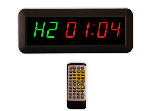 Eu 1.5' 6 Digits Interval Timer Programmable Led Countdown / Up Stopwatch For Home Gym.