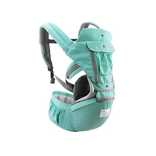 Envisioni Baby Carrier Hip Seat Sling by Best Safe Backpack Carriers Back Pain Support (Green)