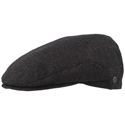 Bugatti - Winter Schiebermütze | Flatcap | Schirmmütze mit Windstopper Membran & ausklappbarem Ohrenschutz – aus 100% Wolle