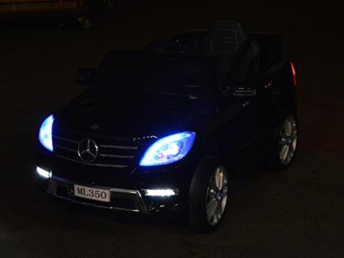RC Auto kaufen Kinderauto Bild 5: Mercedes Benz ML 350 Kinder Elektro Auto - Original Lizenz Daimler - Vollausstattung - LED Beleuchtung - Vollgummi - USB - Bluetooth - Kinderauto*