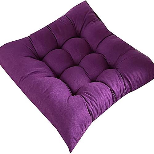 Quadratisches Anti-Rutsch-Stuhl, weiches Kissen, dickeres Sitzkissen für Esszimmer, Terrasse, Zuhause, Büro, Innen- und Außenbereich, Garten, Sofa, Gesäßkissen J