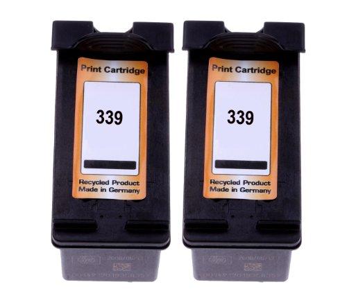 Premium 2x Cartucho de tinta para HP 339HP Deskjet 57405743574557485940, 5950, 6540, 6540d, 6540DT 6620, 6840, 69406940dt 694369806980dt 698398009800d 9860