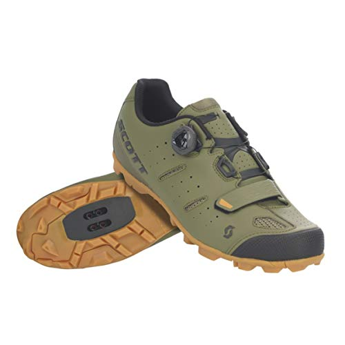 SCOTT MTB Elite Boa Cycling Shoe - Men's Green Moss/Black, 48.0