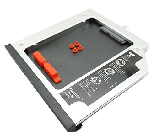 Nimitz 2nd® Einbaurahmen für HDD-SSD-Festplatten, für Lenovo Thinkpad L440 / L540 mit Frontplatte und Halterung