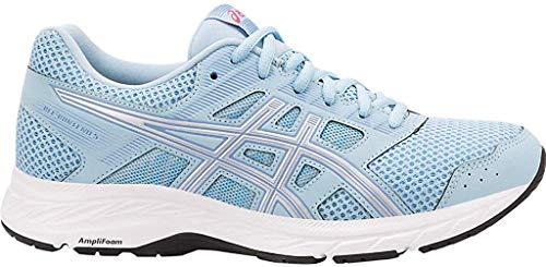 ASICS Women's Gel-Contend 5 Running Shoes, 10, Skylight/Silver