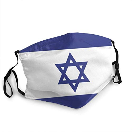 Israel Flag Reusable Face Mask Balaclava Washable Outdoor Nose Mouth Cover Fashion for Unisex Men Women
