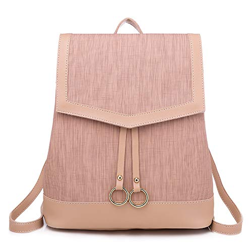 CMZ Backpack Fashionable Women's Bags Candy-Colored Women's Backpacks Large Capacity PU Solid Color Backpacks Simple Student Bags