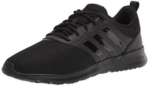 adidas Women's QT Racer 2.0 Running Shoe, Black/Black/Grey, 10