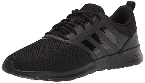adidas Women's QT Racer 2.0 Black/Black/Grey 6.5