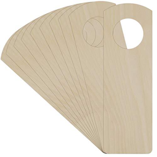 Creative Deco 10 x Türschild aus Sperr-Holz   Türhänger in Größe von 15 cm x 5 cm   Sperrholz-Ausschnitt   Wendeschild ohne Gravur  Perfekt als Dekoschild und für Decoupage, Bemalen & Laserschnitt