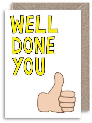 Well Done Thumbs Up Emoticon Card, Instagram, Facebook, Biglietto Di Auguri, Risultati Di Guida Prova – Congratulazioni Card – Nuova Scheda Di Lavoro