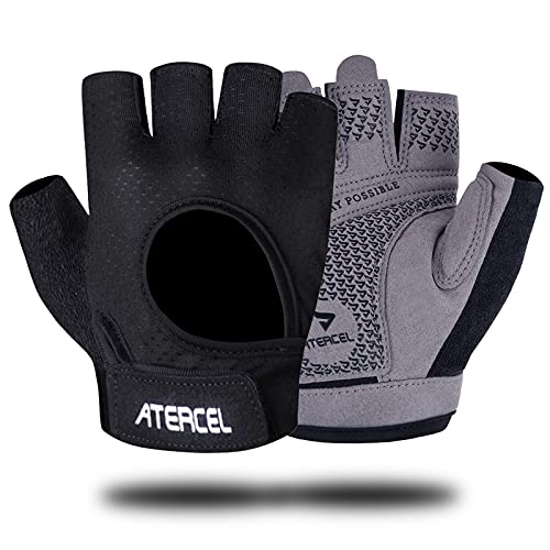 Atercel Fitness-Handschuhe, super leicht, beste Gewichtheber-Handschuhe für Radfahren, Training, Fitness, atmungsaktive Trainingshandschuhe mit Mikrofaser-Gewebe, für Damen und Herren