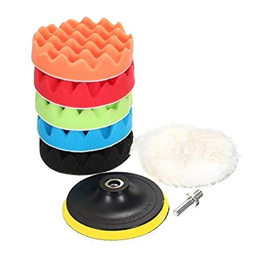 Demarkt polijstspons, set van spons, polijstopzetstuk, boormachine auto polijstpad 5 stuks/set