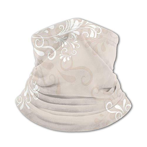 JONINOT Nackenschutz Schal Winddichte Maske-Blumen Efeu wirbelt und lässt abstrakten...
