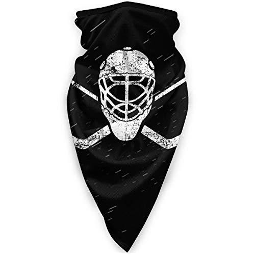 Palitos de portero cruzados de hockey transpirable máscara resistente al viento máscara al aire libre bufanda cuello cálido turbante sombrero negro