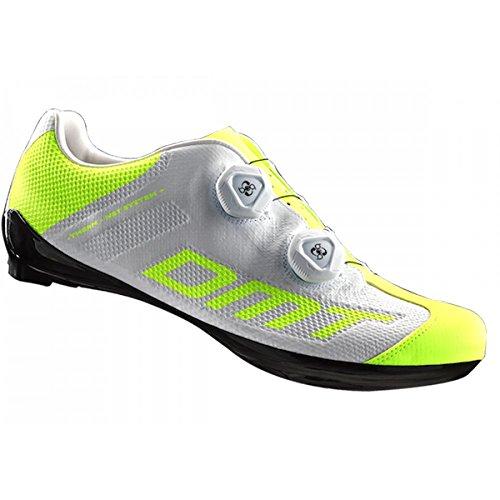 MTD DMT R1 Rennrad Schuhe - White/Yellow Flou (43)