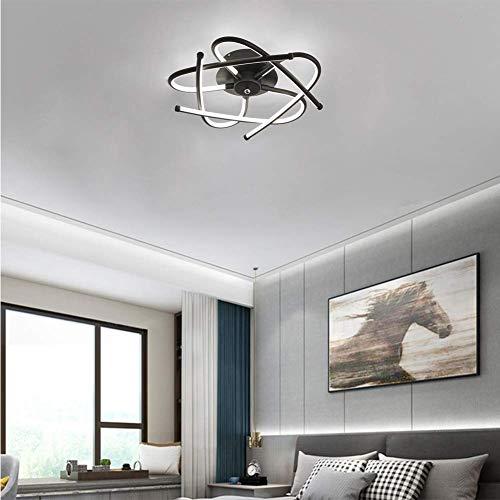 YSNJG LED Decoratieve plafondlamp dimbaar Moderne creatief acryl 3000K-6500K metaal plafondlamp gang licht badkamer licht restaurant licht (zwart) [Energie-efficiëntieklasse A ++]