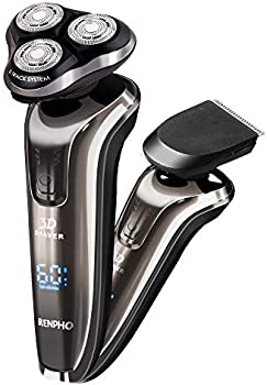 Renpho 3D Rotary Shaver Razor 2 in 1 Wet & Dry Waterproof Electric Razor