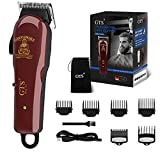 Hair Clippers Cordless Hair Trimmer Professional Haircut &Home Barbers Grooming Kit. Hair Trimmer with Low Noise Adjustable Cordless Rechargeable Grooming Kit for Men, Home, Barber.(Brown-red)