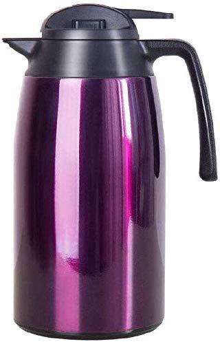 HGDD Jarra Térmica Cafe Jarra Termo Flask térmico: Jarra de café térmico, Pared Doble aislada de Acero Inoxidable, Termo de vacío, Mantiene eficazmente Las Bebidas Calientes, Marrones, púrpuras