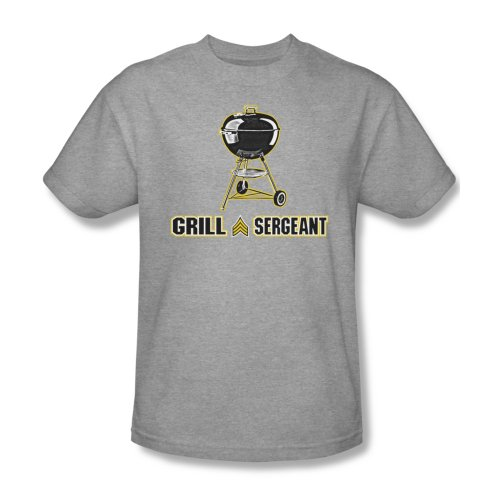 Grill-Sergeant - Männer T-Shirt In Heather, XXX-Large, Heather