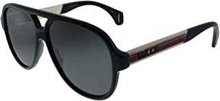 Gucci GG0463S Sporty Vintage Pilot Shape Sunglasses 58mm
